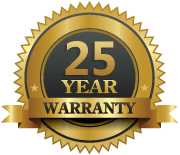 quality guarantee 25 years of service badge