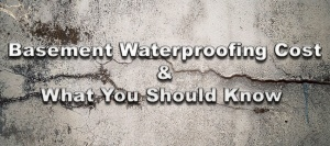 Basement Waterproofing Cost & What You Should Know