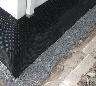 exterior waterproofing example