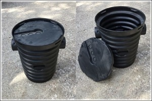 sump pump with air tight lid