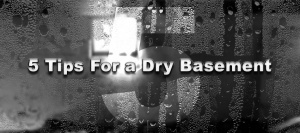 5 Tips For a Dry Basement: