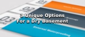 3 Unique Options For a Dry Basement
