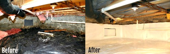 Avoid Damage With Crawl Space Maintenance Before And After
